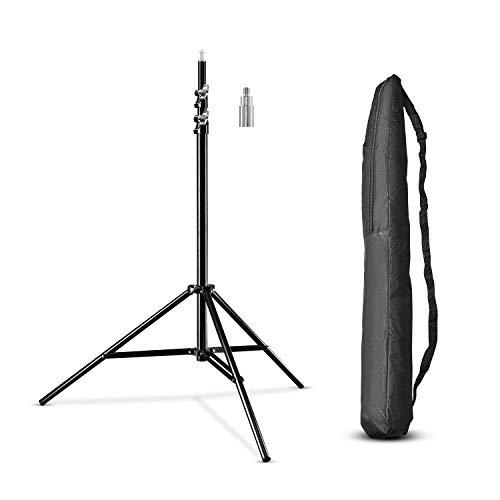 Walimex Pro WT-806 Lampenstativ (mit Federdämpfung, max. 256cm, 6 kg Traglast, Lichtstativ Leuchtenstativ aus Aluminium, für Studio Mobil Fotografie Video Blitz Softbox Reflektor Galgen, mit Tasche)