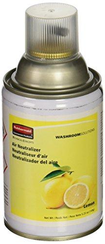 Rubbermaid Commercial FG401909 Standard Aerosol Refill for Microburst Metered Air Care Systems, Lemon