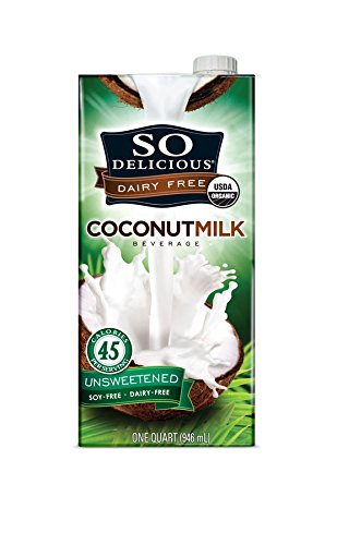 So Delicious Dairy-Free Organic Coconutmilk Beverage, Unsweetened, 32 oz (Pack of 6)