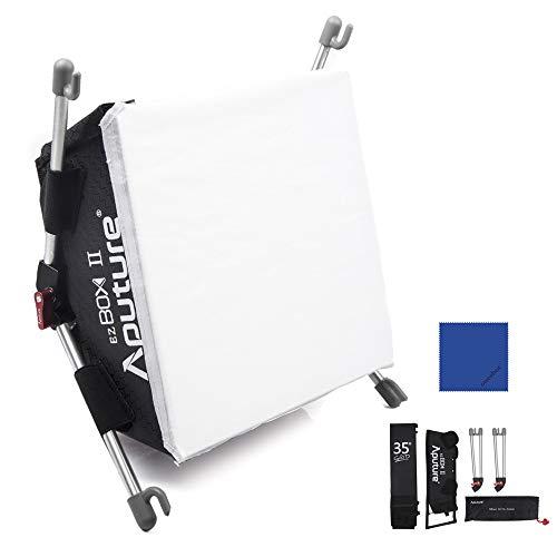 Aputure EZ Box + II Tragbares Fotostudio Diffusor Softbox Stoffgitter Kit mit Diffusor Stoffgitter für Amaran HR-528/HR-672/TRi-8 LED-Lichtpaneele mit Oneshot Reinigungstuch