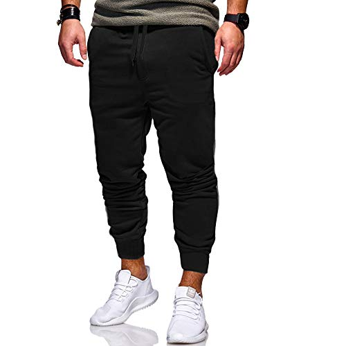 Dorical Jogginghose Winter Herren Sportwear Gym Workout Trainingshose Fitnesshose Drucken Freizeithosen Hip Hop Hosen Männer Sporthosen Jogginghose Jogger Trainingshose Fitness(Schwarz,X-Large)