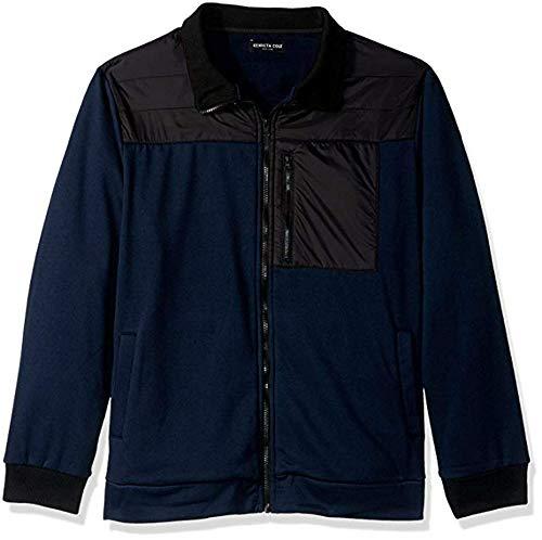 Kenneth Cole Men's Full Zip Jacket, Variety (M, Indigo)