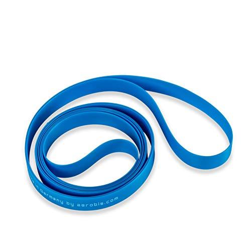 aerobis alphaband Loop – Stärke: Light I Profi Fitnessband als 100 cm Ring I Loop Band für Sport & Gymnastik I Widerstandsband Indoor & Outdoor I Resistance Bands I Fitnessgeräte – Made in Germany