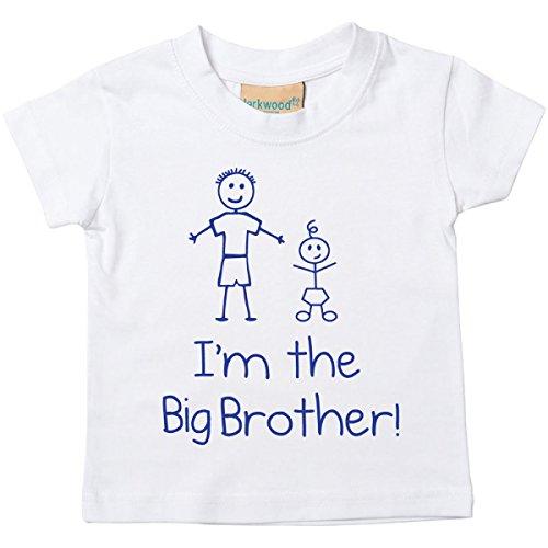 60 Second Makeover Limited I'm The Big Brother Camiseta blanca para bebé niño pequeño disponible en tamaños de 0 a 6 meses nuevo regalo para bebé hermano