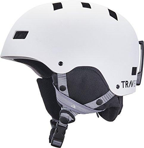 Traverse Sports Dirus Convertible Ski & Snowboard/Bike & Helmet, Matte Snowcap, Medium (55-59cm)
