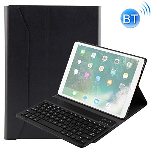 XUAILI Tablet Keyboard Case FT-1035 For iPad Pro 10.5 inch & iPad Air 10.5 inch Lambskin Texture Detachable Plastic Bluetooth Keyboard Leather Cover with Stand Function (Color : Black)