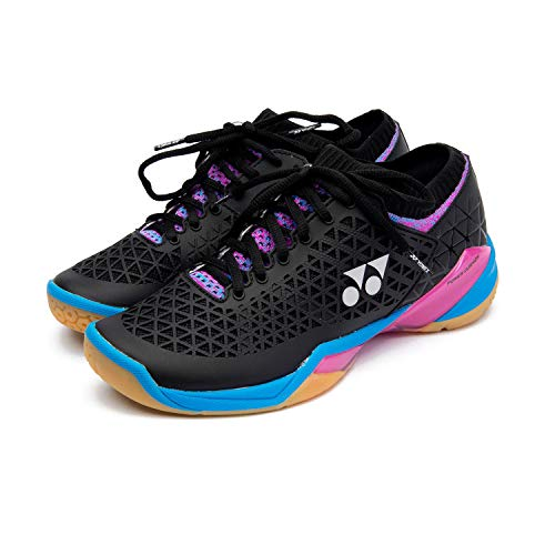 YONEX Eclipsion Z Women Badminton Shoe, Black/Pink/Blue (9.0)