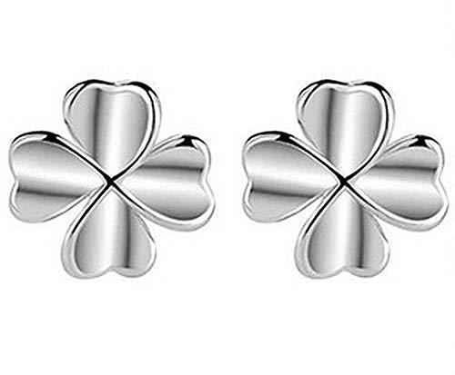 Inception Pro Infinite Orecchini - Donna - Portafortuna - Piccoli - Lobo - Bambina - Quadrifoglio - Ragazza - Colore Argento - Idea Regalo - Compleanno - Natale