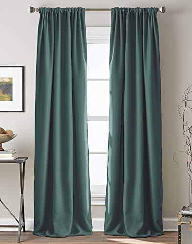 "Peri Home Textured Hollister Curtain Panel, 84"", Teal"