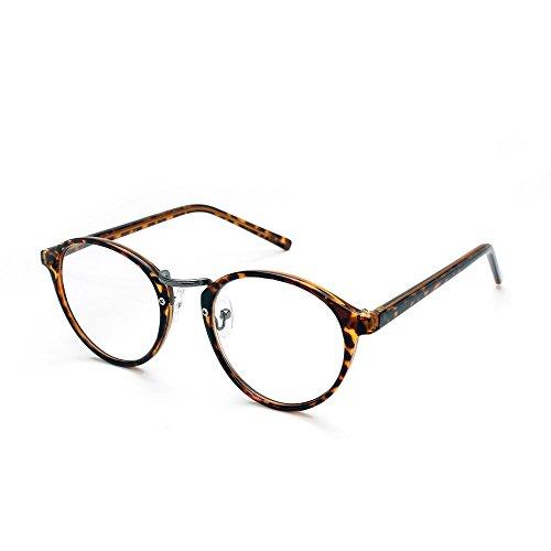 RESA レサ 老眼鏡に見えない 40代からのスマホ老眼鏡 丸メガネタイプ ブラウンデミ RS-09-1 +1.00