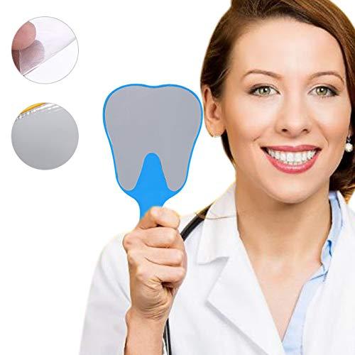 Espejo de mano, Cuidado dental, Espejo de mano, Moda linda, 4 colores, Mango de plástico(azul)