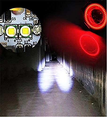 Motorradscheinwerfer Blendlichter Superhelle Scheinwerfer Elektrische LED-Leuchten Blendlichter Fernlicht nachrüsten, doppelte weiße rote Engelsaugen U7