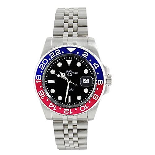 M&M PRIMO EMPORIO Reloj Sub con anilla roja, azul 1101/RBJ