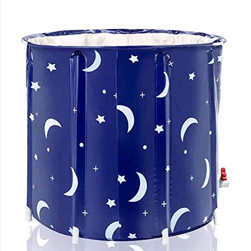 Allshiny Bañera Bañera Plegable portátil para la Cabina de Ducha, fácil de Instalar el Mantenimiento eficiente de la Temperatura del baño del baño o la bañera de baño de Hielo (Color : Starry Blue)