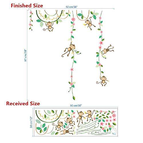 JPDP apen vrienden avontuur hoogte meten muur Stickers voor kinderen kamers vlinder tuin hek hoogte grafiek kwekerij kamer decor,102