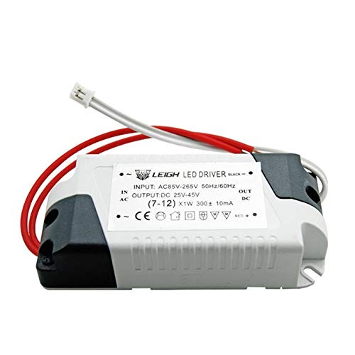 Ultra delgado Driver de corriente constante 220V Salida de suministro de energía 300mA 240MA externa para el downlight Adaptador de interior al aire libre (Color : 7-12w)