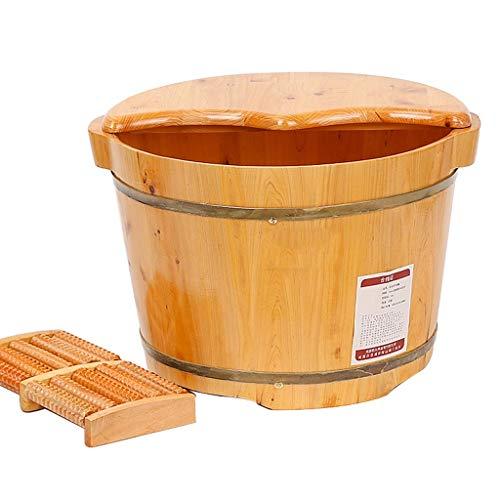 Avec Couvercle A++ Tonneau De Bain De Pied Pied De Bain De Tonneau Bois /Épais QING MEI Bain De Pied