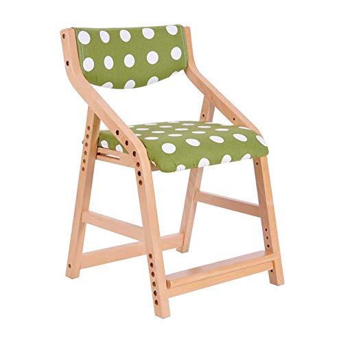 JIEER-C eetkamerstoel voor de vrije tijd, eenvoudige leerstoel voor kinderen, stoel van massief hout, bureaustoel T1