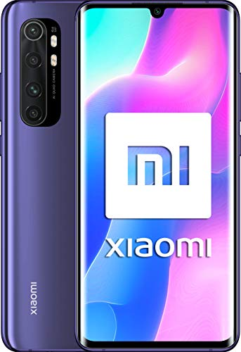 "Xiaomi Mi Note 10 Lite-Smartphone 6.47 ""Curved AMOLED FHD(6GB RAM、64GB ROM、Quad Camera 64mpx、5260mah Battery、2020 [Italian Version]-Color Nebula Purple"