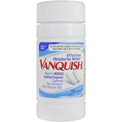 HEADACHE RELIEF: Vanquish Headache Relief combines acetaminophen & aspirin with a small dose of caffeine to help defeat tough headaches fast. Easy on stomach & won't make you jittery. POWERFUL & LONG-LASTING: Vanquish is for anyone who experiences fr...