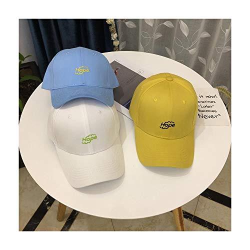 XY-hat Calentar Bordado Casual Simple Carta Cap Pareja Estudiante Gorra Sombrero Mujer Primavera Verano Salvaje Gorra de béisbol Moda (Color : Blue, Size : F)
