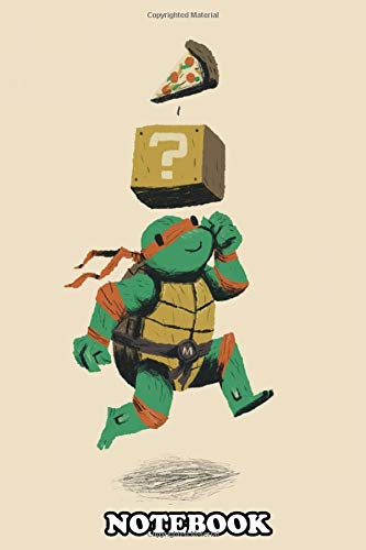Notebook: Turtle Power Up , Journal for Writing, College Ruled Size 6' x 9', 110 Pages