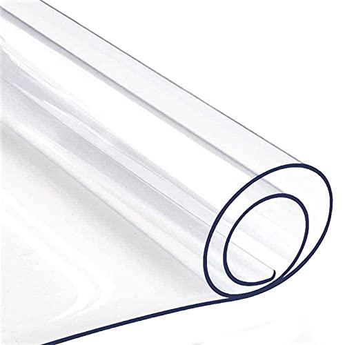 GXGX Mantel de plástico transparente de 2 mm de grosor, protector de mesa rectangular, protector transparente, protector de mesa de PVC, impermeable, con menos olores, para la noche A-70 x 70 cm