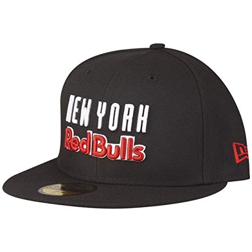 New Era 59Fifty - Gorra ajustada, diseño de los MLS New York Red Bulls Negro XXX-Large