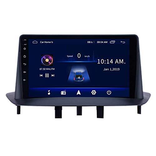 Reproductor MP5 estéreo con radio de coche de 9.1 pulgadas Android 8.1 compatible con Renault Megane 3 (2009-2014), pantalla táctil GPS 2.5D, Wifi, enlace espejo, sintonizador de radio (RAM 1G + R