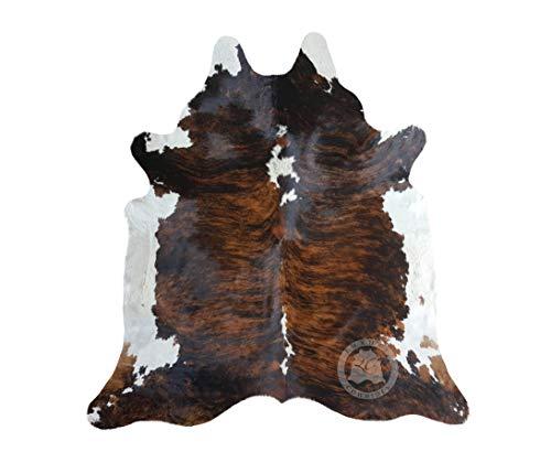 Sunshine Cowhides Teppich aus Kuhfell, Farbe: Tricolor 210 x 180 cm, Premium - Qualität von Pieles...