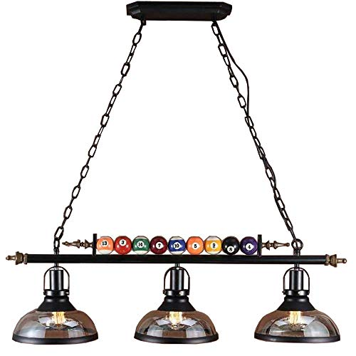 Mooie lampen/plafondlamp voor biljartlampen, 3-spots, voor biljartkeu, restaurant, café, bar, club, slaapkamer, verlichting, Nordic stijl smeedijzer.