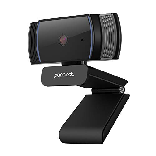 papalook Webcam 1080P, AF925 USB Streaming Web Camera with AutoFocus and Noise Reduction Microphone, for Laptop Monitor Mac PC, OBS, Skype, Youtube, Twitch
