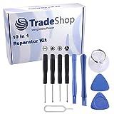 Trade-Shop 10 in 1 Universal Handy Reparatur Tool Kit Profi Smartphone Werkzeug Set Schraubendreher Öffnung Zerlegen für Handy/Smartphone/Tablet