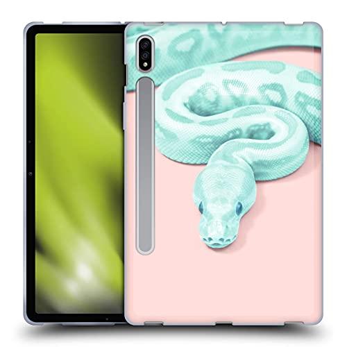 Head Case Designs Officially Licensed Paul Fuentes Serpiente Verde Animales 2 Carcasa de Gel de Silicona Compatible con Samsung Galaxy Tab S7 5G