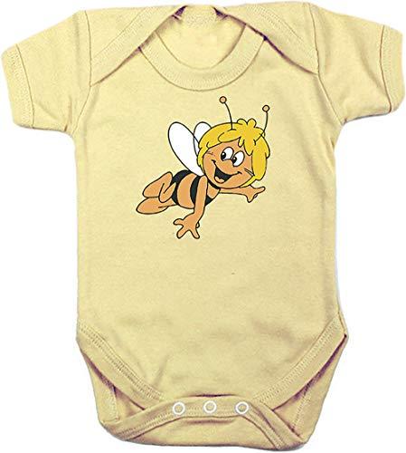 Camisetas EGB Body Bebé Abeja Maya ochenteras 80´s Retro (Amarillo, 3 Meses)