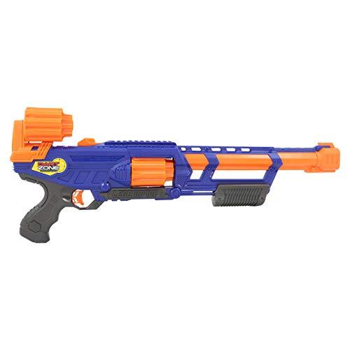 Dart Zone Legendfire Powershot Blaster - Pump-Action-Blaster mit wechselbarer Trommel