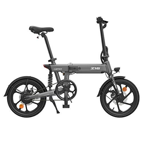 HIMO Z16 Bicicletta elettrica pieghevole da 16 pollici Bicicletta assistita Ammortizzatore pieghevole a tre stadi Gamma di crociera fino a 80 km
