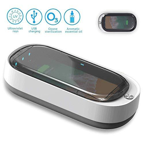 SONRU UV Smartphone Sanitizer, Draagbare Mobiele Telefoon Sanitizer, Multifunctionele Functie Desinfector met Snelle Draadloze Oplader voor Alle iPhone Android Cellphone Tandenborstel Pacifier Sieraden