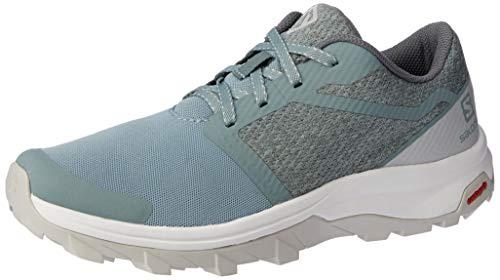 Salomon Women's Outbound Hiking Shoes, Lead/Lunar Rock/White, 8