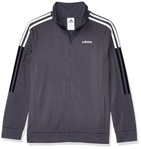 adidas Boys' Big New CORE Tricot Jacket, Dark Grey, S(8)
