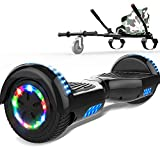 SOUTHERN-WOLF Hoverboard go Kart, Self Balance Scooter with Hoverkart 6.5 Inches Hoverboards for kids LED with Lights and Bluetooth Speaker Best Gifts for Kids