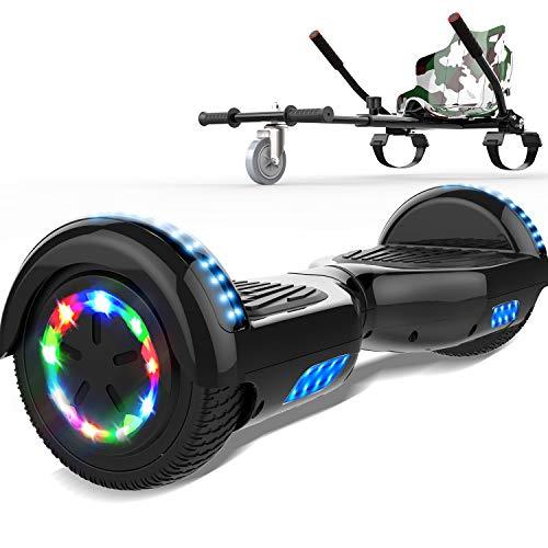 SOUTHERN-WOLF Self-Balancing Scooter, Hoverboard 6,5zoll Hover Scooter Board Bluetooth Scooter mit bunten Lichter Bluetooth eingebaute Geschenk für z29 (Black)