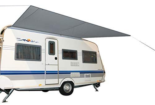 Bo-Camp Vordach für Wohnwagen/Wohnwagen, 460 x 240 cm, Grau