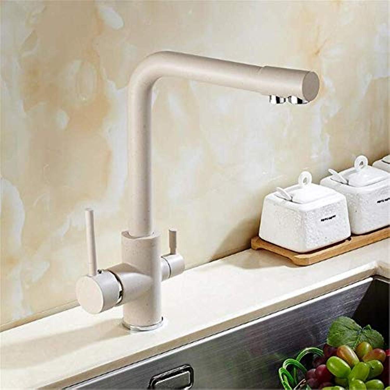 Willsego Wasserhahn Messing Material Hochtemperatur Panting Einhebel-Küchenarmatur Waschbecken Wasserhahn mit direktem Trinkrohr (Farbe   -, Gre   -)