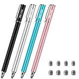 METRO Universal Stylus Pens for Touch Screens - High Sensitivity Capacitive Stylus Fiber Tips 2 in 1 Touch Screen Pen with 8 Extra Replaceable Tips for iPad iPhone and All Other Tablets & Cell Phones