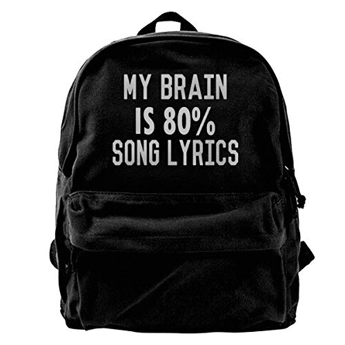 Jiaojiaozhe My Brain is 80 Percent Song Lyrics Men Women Boy Girls Backpack Bag Cotton Running verstelbare riem Hip Bum