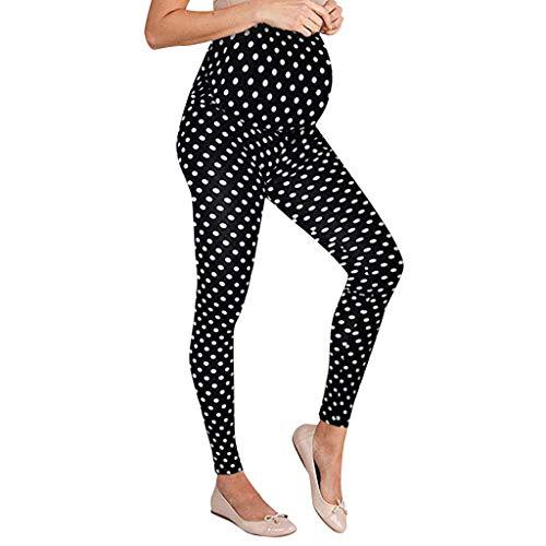 PAOLIAN Premamá Pantalones para Embarazadas Leggins Maternidad Largo Mujer Cintura Altos Elástica Ropa Premama Moderna Lunares Tallas Grandes