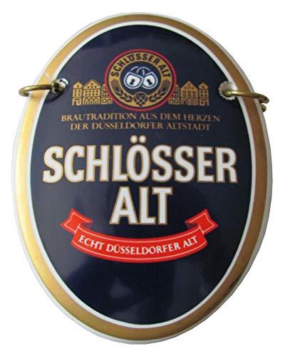 Schlösser Alt Brauerei - Echt Düsseldorfer Alt - Zapfhahnschild - 12 x 9 cm - Keramik