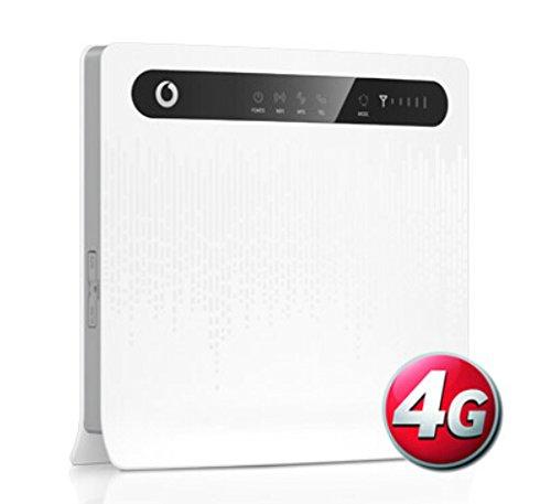 Vodafone B3000 4G 150Mbps Cat 4 LTE FDD 3G UMTS WiFi Mobil Surfstick Mobiler WiFi WLAN-Router Hotspot Mobilfunkrouter mit WLAN(UK Version, Original Branding ohne SIMlock), weiß
