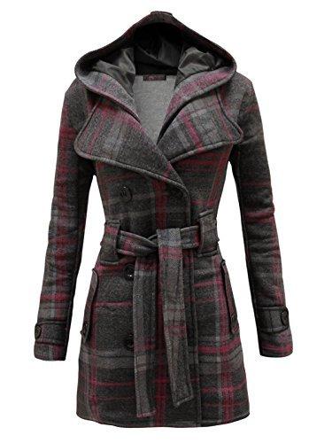 ENVY Boutique Damas Con Cinturón Con Capucha Chaqueta Polar Mujer Abrigo Top Talla 8 10 12 14